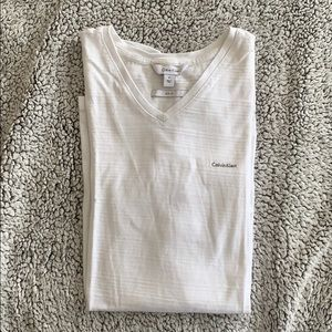Men's Calvin Kline white v-neck t-shirt